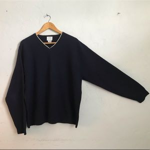 V-neck Sweater J.Crew navy blue extra large